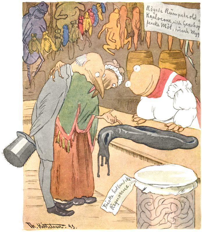 En Delikatessehandel - Theodor Severin Kittelsen