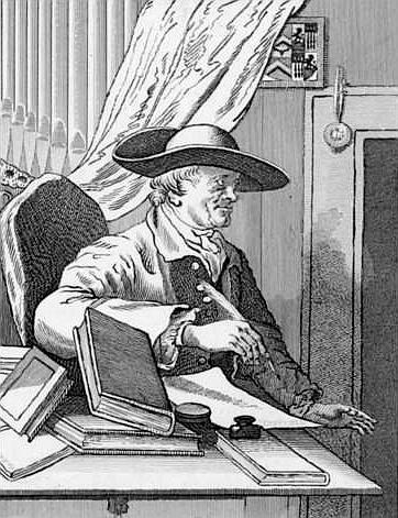 English librettist Thomas Morell - William Hogarth