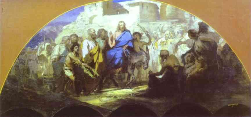 Entrance of Christ into Jerusalem - Henryk Siemiradzki