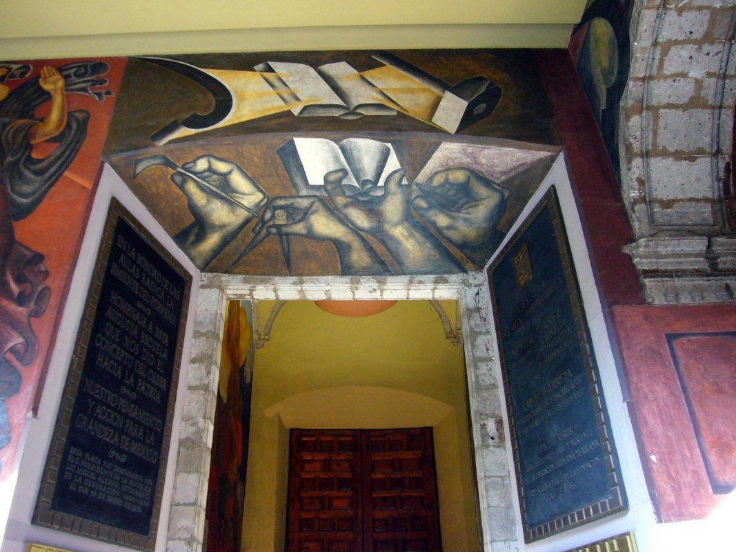 Entrance of Colegio de San Ildefonso - Jose Clemente Orozco