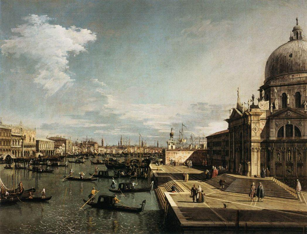 Entrance to the Grand Canal and the Church of La Salute - Canaletto