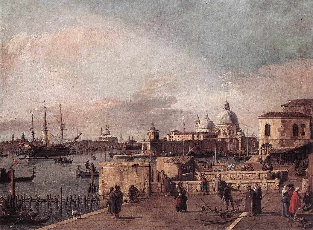 Entrance to the Grand Canal: from the West End of the Molo - Canaletto