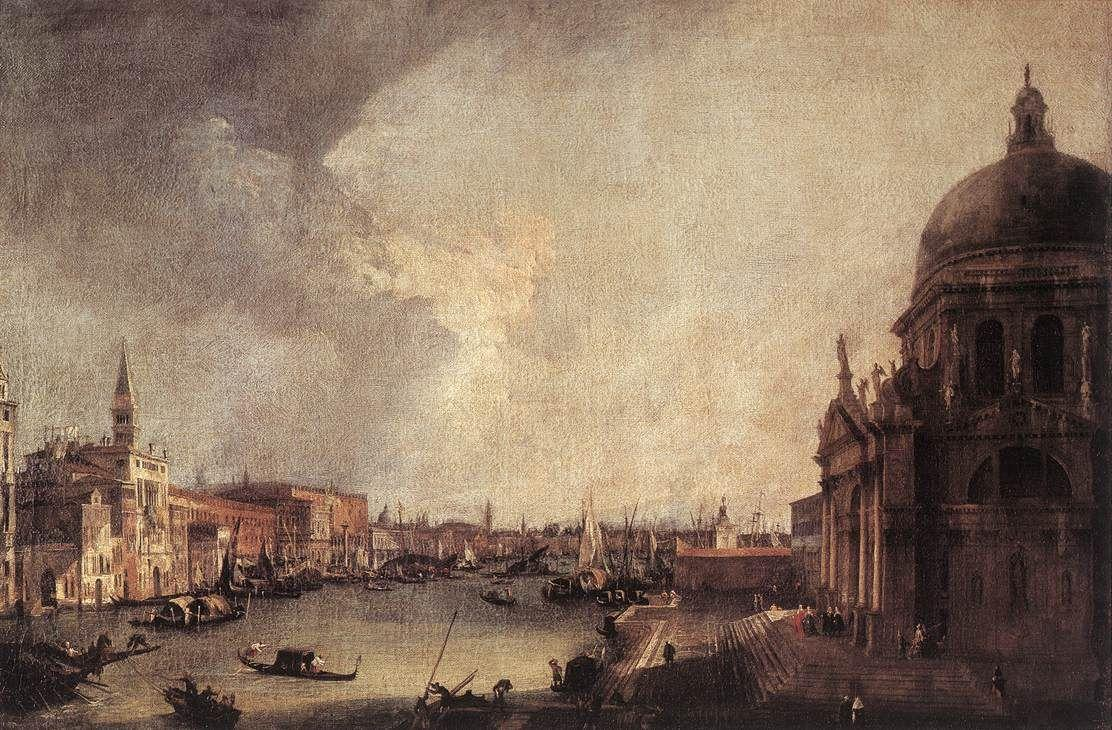 Entrance To The Grand Canal Looking East - Canaletto