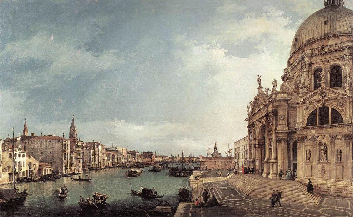 Entrance to the Grand Canal: Looking East - Canaletto