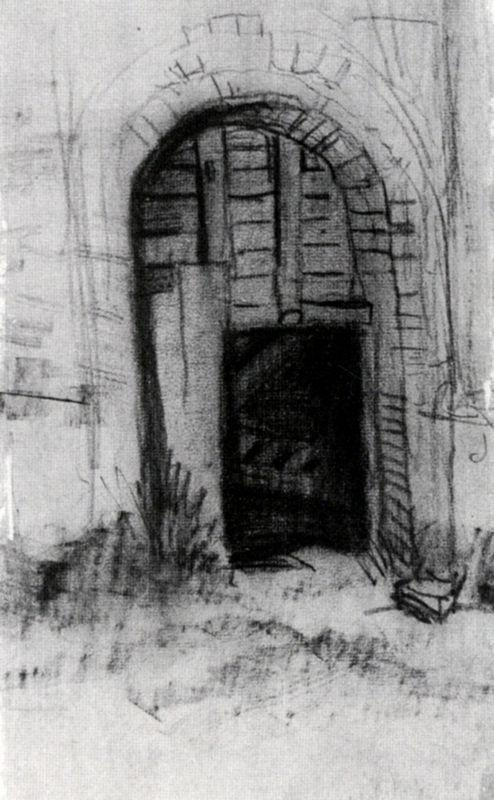 Entrance to the Old Tower - Vincent van Gogh