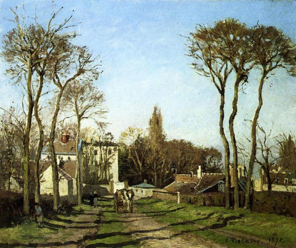 Entrance to the Village of Voisins, Yvelines - Camille Pissarro