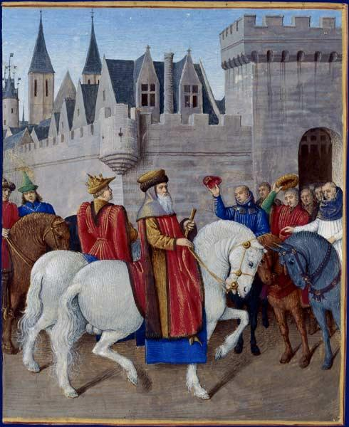 Entry of Emperor Charles IV in Cambrai - Jean Fouquet