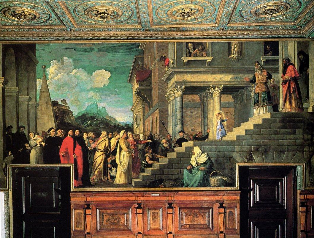 Entry of Mary into the temple - Titian