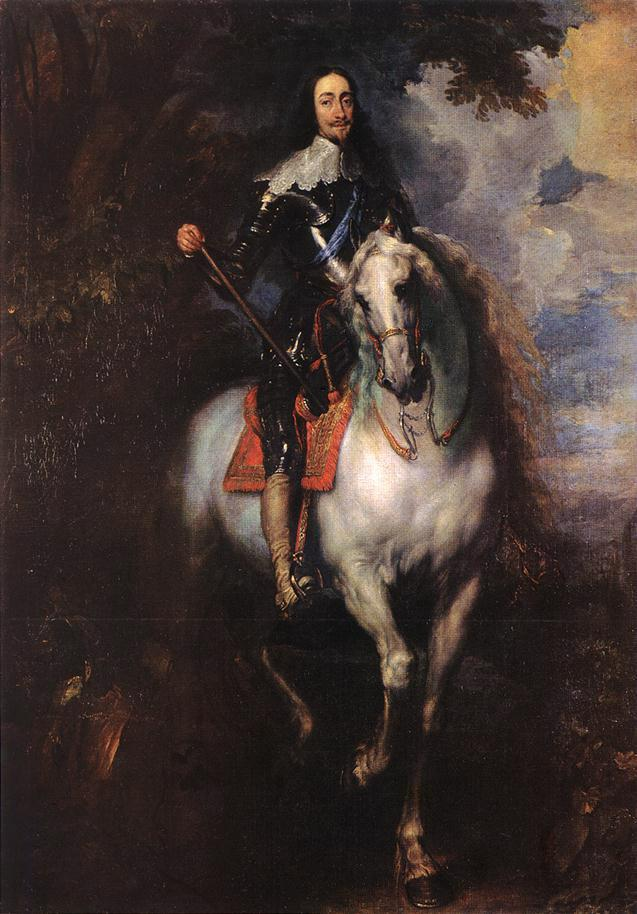 Equestrian Portrait of Charles I, King of England - Anthony van Dyck