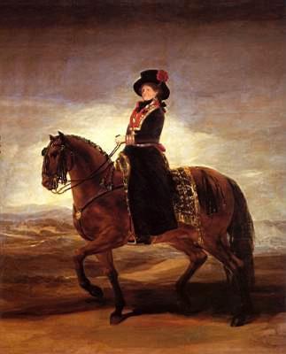 Equestrian portrait of Maria Luisa of Parma - Francisco Goya