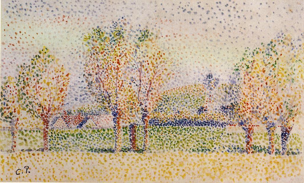 Eragny Landscape - Camille Pissarro