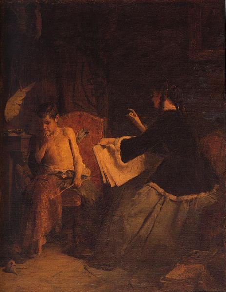 Eros and the painter - Nikolaos Gyzis