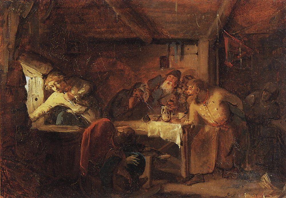 Escape of Grigory Otrepyev from inn on the Lithuanian border - Grigoriy Myasoyedov