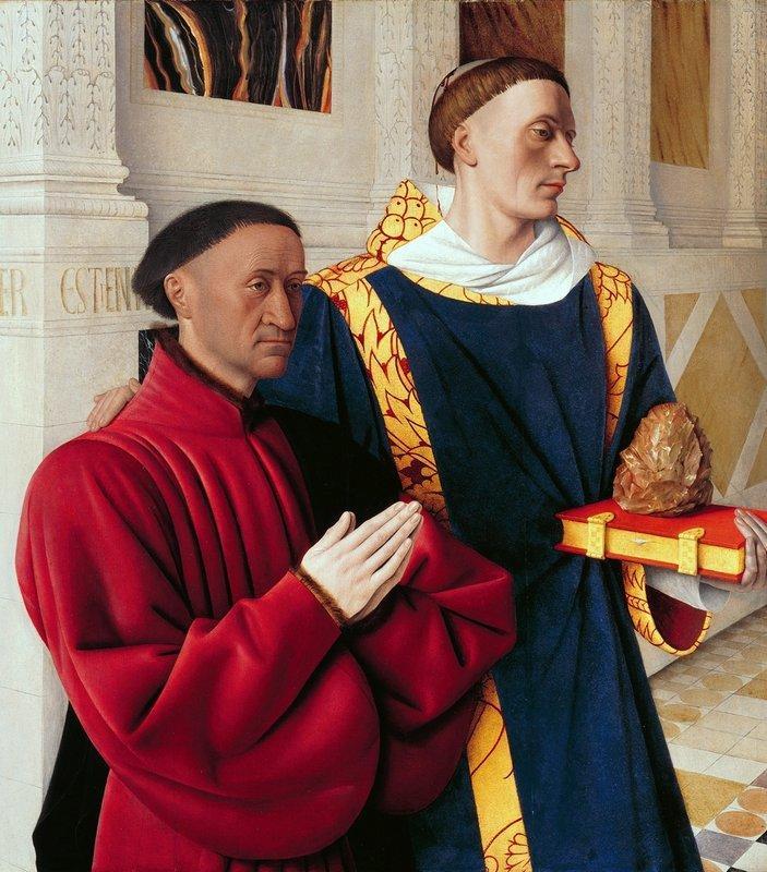 Etienne Chevalier with St. Stephen - Jean Fouquet