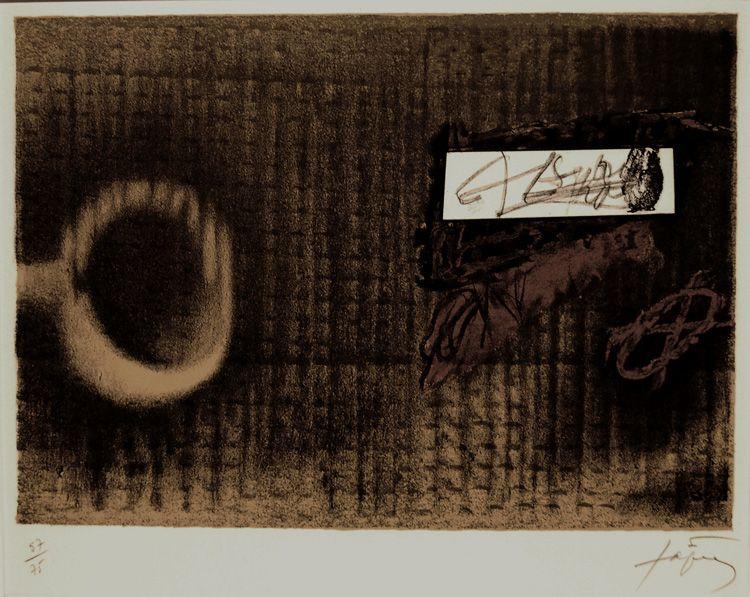 Etiquette - Antoni Tapies