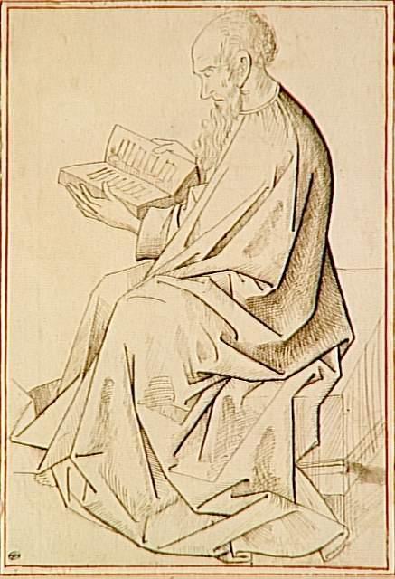 Etude of figure the evangelist - Rogier van der Weyden