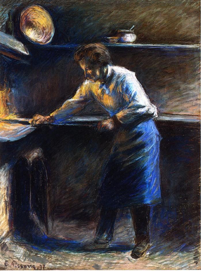 Eugene Murer at His Pastry Oven - Camille Pissarro