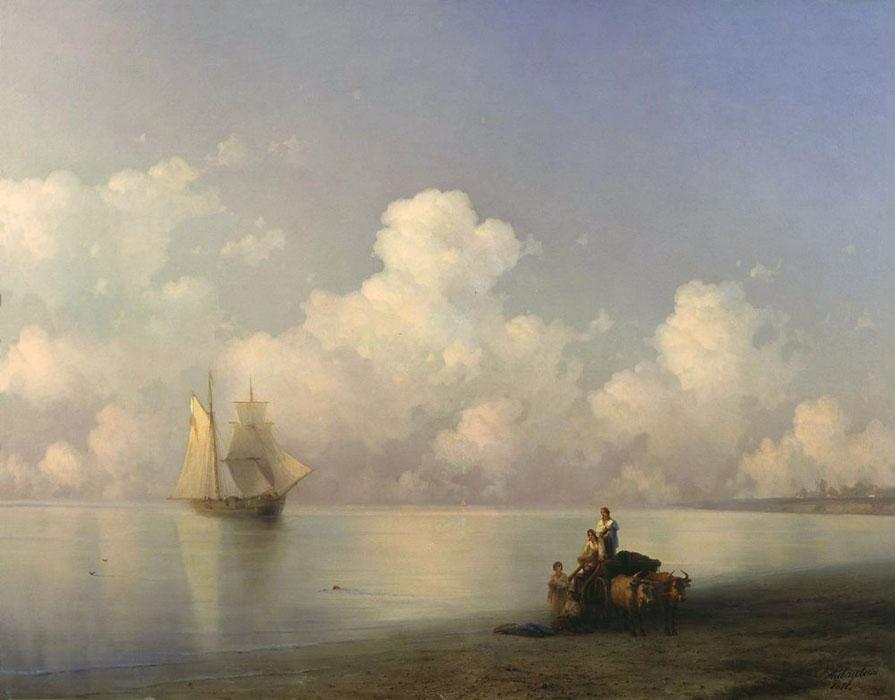 Evening at Sea - Ivan Aivazovsky