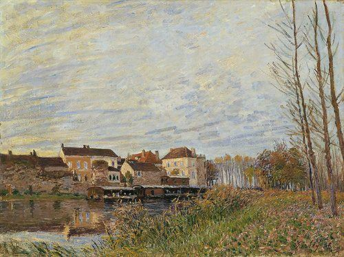 Evening in Moret, End of October - Alfred Sisley