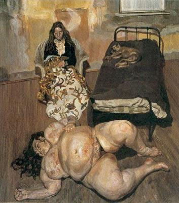 Evening in the Studio - Lucian Freud