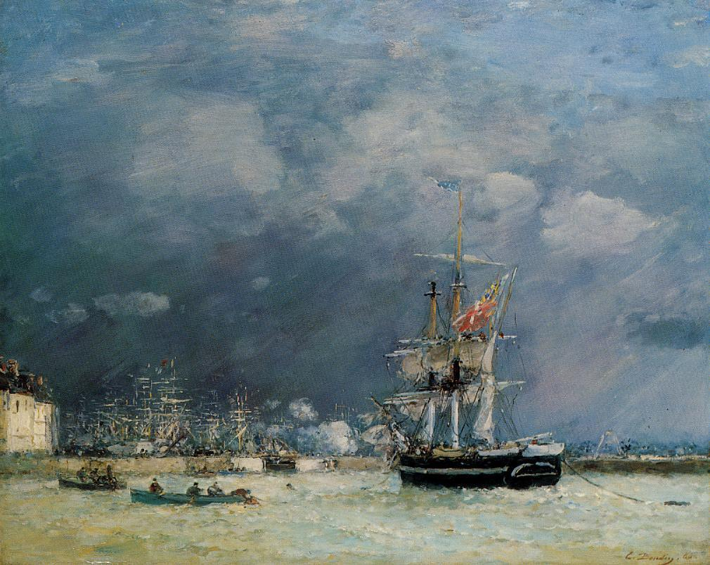 Evening, Le Havre - Eugene Boudin