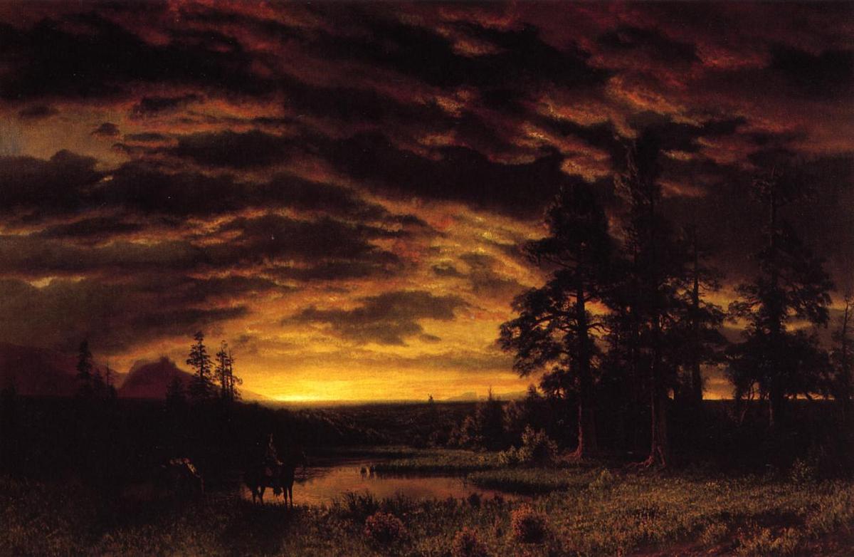 Evening on the Prarie - Albert Bierstadt