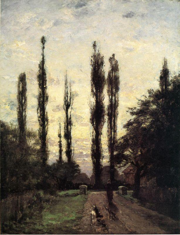 Evening, Poplars - T. C. Steele