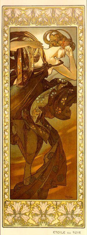 Evestar - Alphonse Mucha