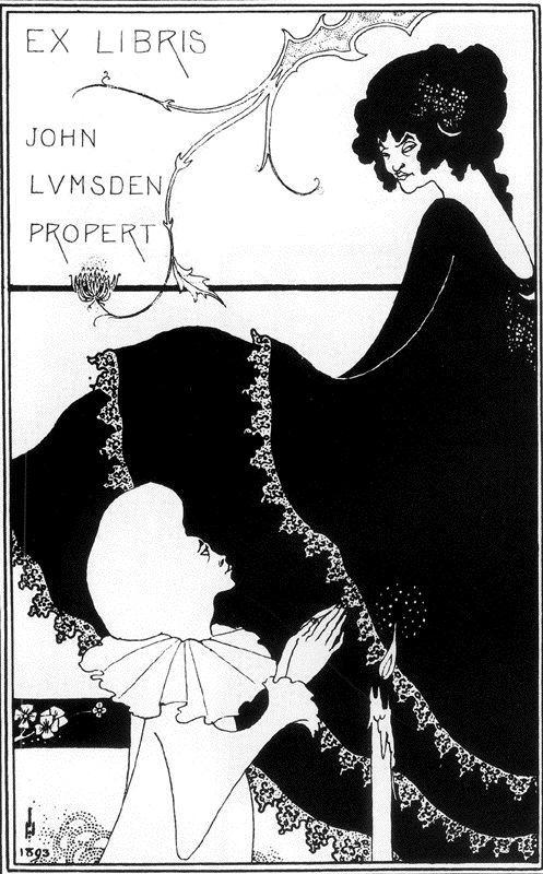 Ex-Libris by John Lumsden Propert - Aubrey Beardsley