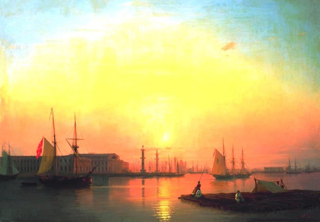 Exchange of Peterburg - Ivan Aivazovsky