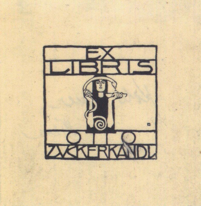 Exlibris for Otto Zuckerkandl - Koloman Moser