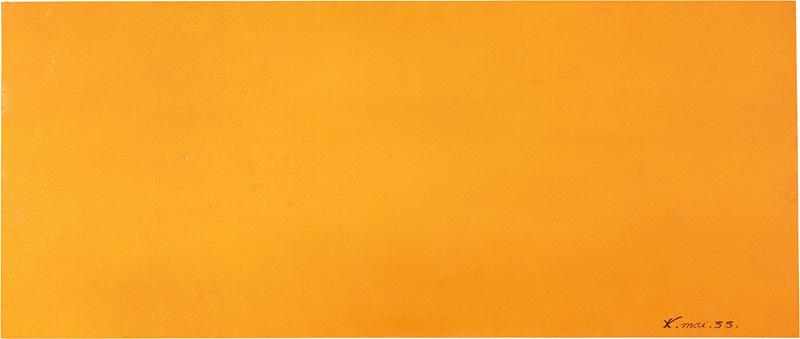 Expression of the Universe of the Color Lead Orange - Yves Klein