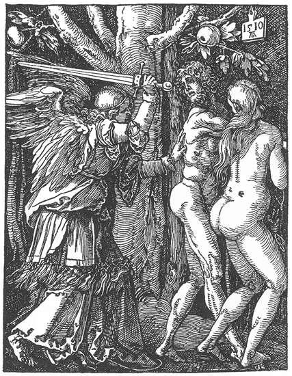 Expulsion from the Paradise - Albrecht Durer