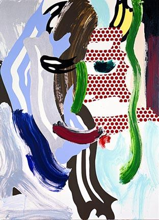 Face (green nose) - Roy Lichtenstein