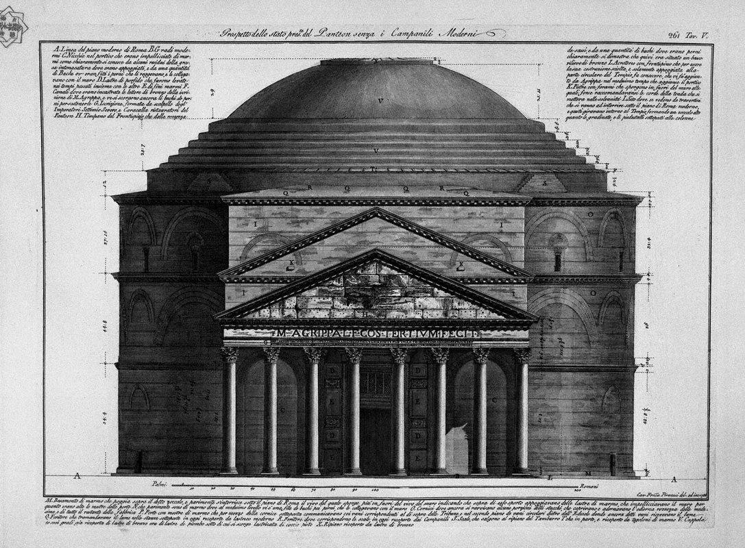 Face of The balance of The Pantheon Without Roesent Modern Bell - Giovanni Battista Piranesi