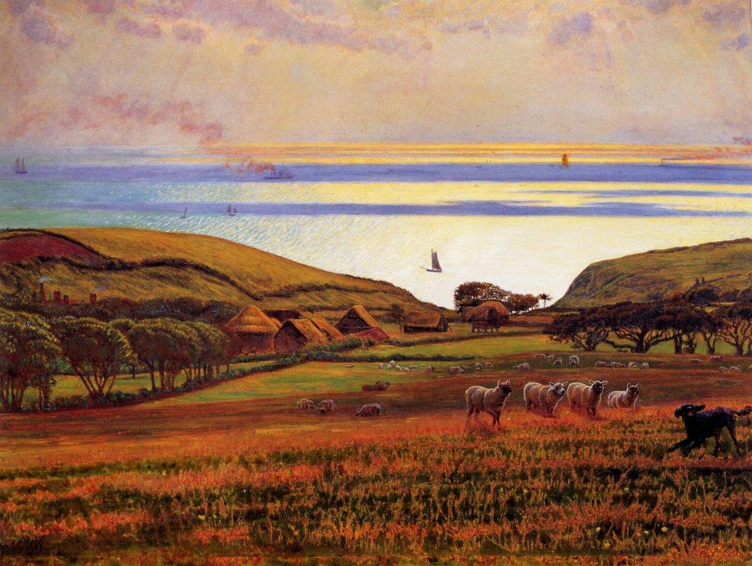 Fairlight Downs, Sunlight on the Sea - William Holman Hunt
