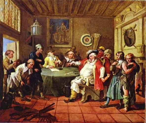 Falstaff Examining His Recruits  - William Hogarth