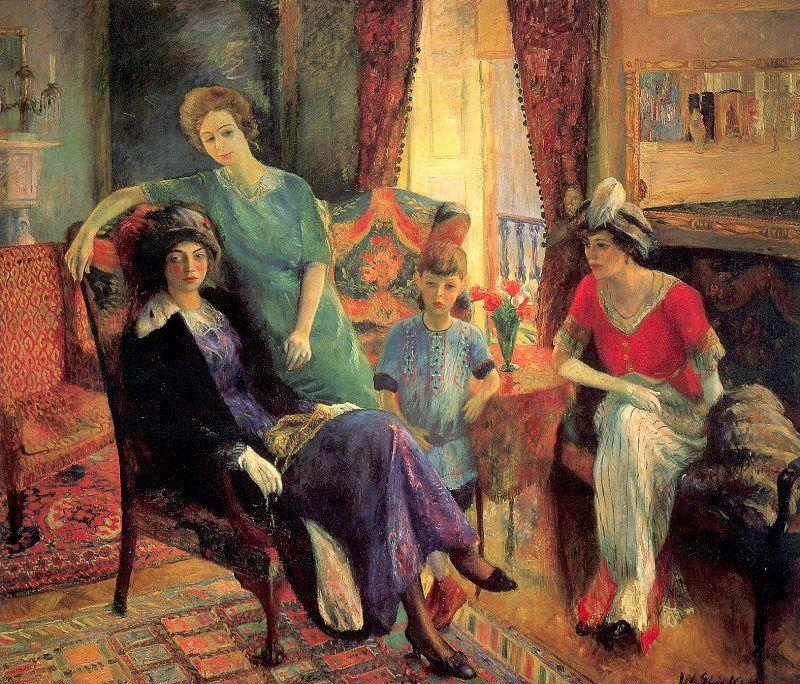 Family group - William James Glackens