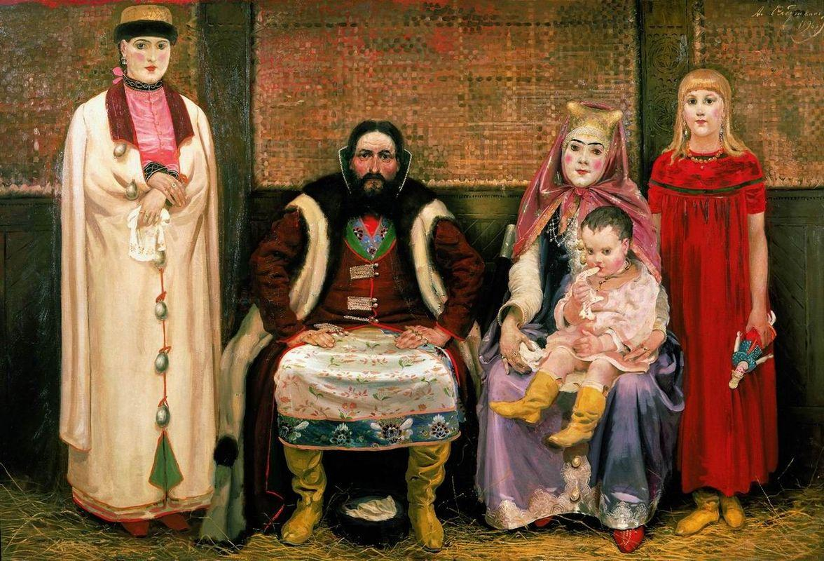 Family of merchant in XVII century - Andrei Ryabushkin