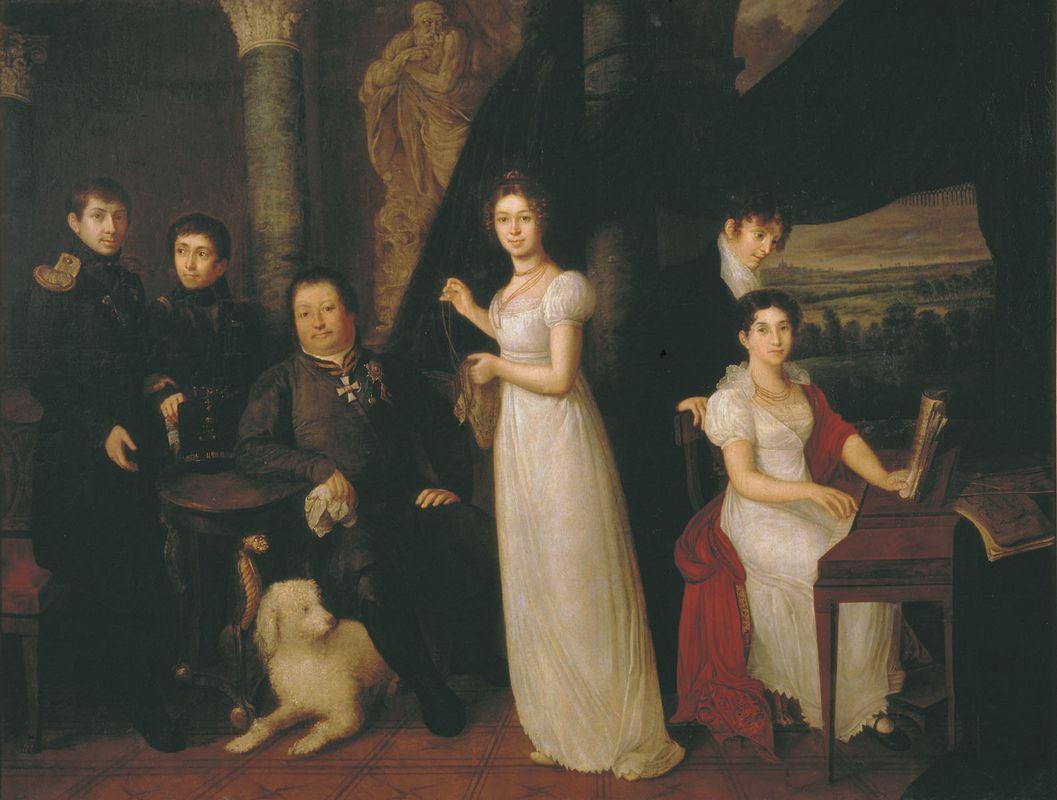 Family portrait of counts Morkovs - Vasily Tropinin