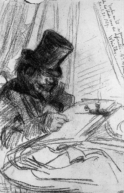 Fantin Latour drawing Sun - James McNeill Whistler