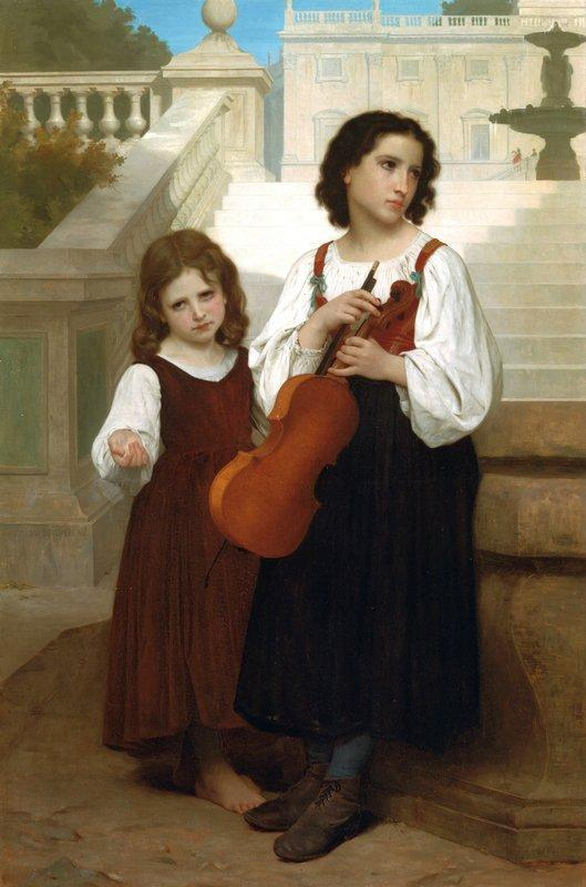 Far from home - William-Adolphe Bouguereau