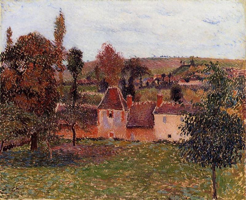 Farm at Basincourt - Camille Pissarro