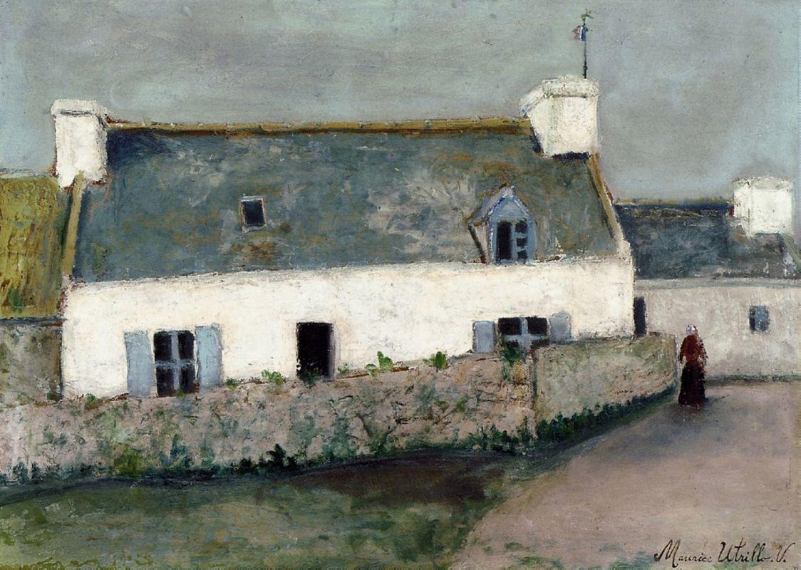 Farm on L'Ile d'Ouessant (Finistere) - Maurice Utrillo
