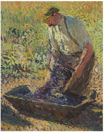Farmer Kneeling - Henri Martin