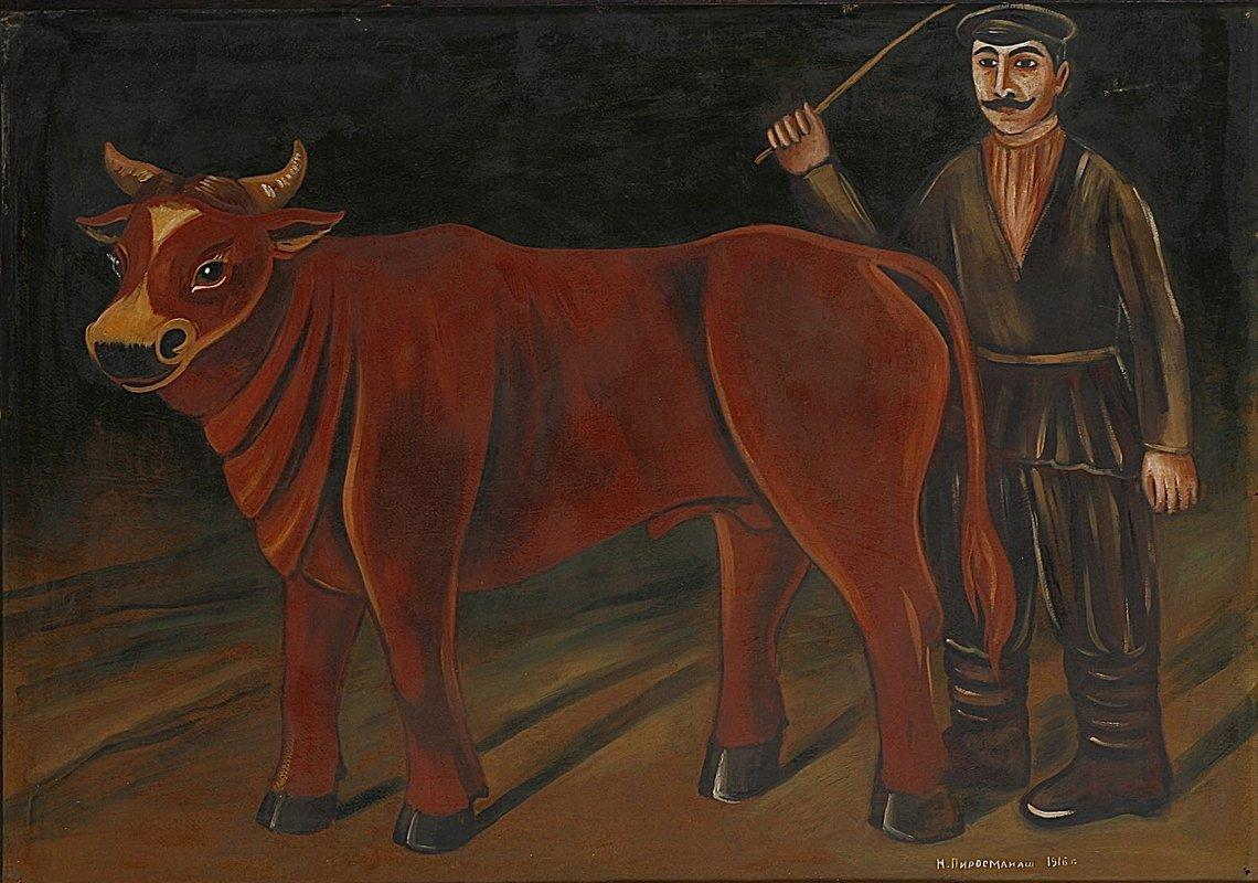 Farmer with a Bull - Niko Pirosmani