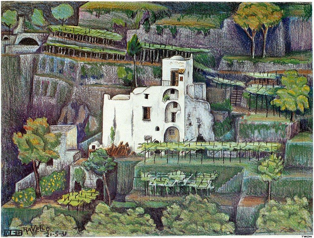 Farmhouse, Ravello colour - M.C. Escher