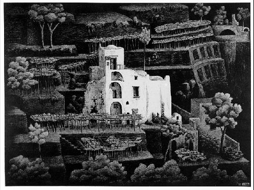 Farmhouse, Ravello - M.C. Escher