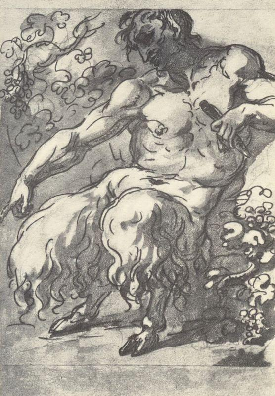 Faun with a pipe - Orest Kiprensky