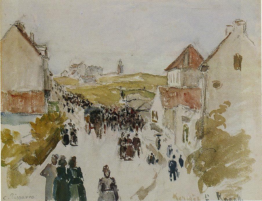 Feast Day in Knokke - Camille Pissarro